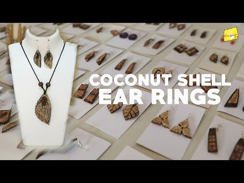 COCONUT SHELL EARRING | HAND MADE JEWELLERY  | UNIQUE JEWELS