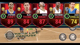 ALL WARRIORS TEAM! WITH Kevin Durant! NBA LIVE Mobile Gameplay