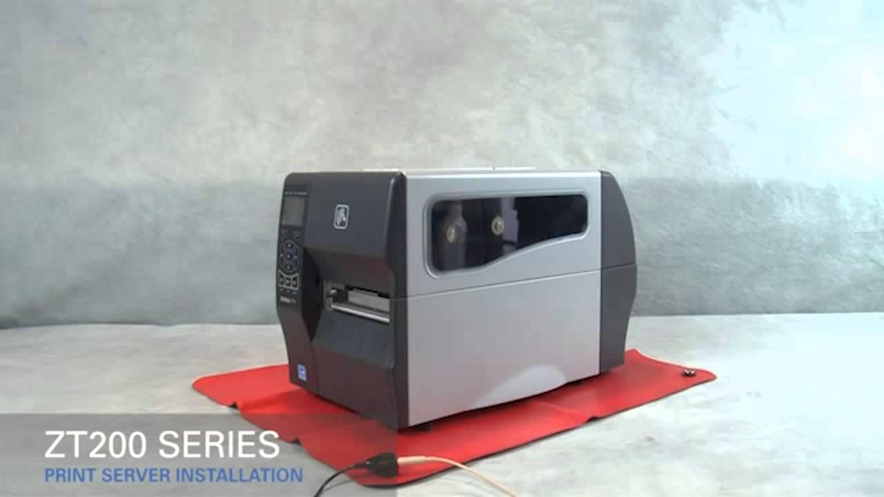 ZT220, ZT230 Print Server Installation - Inštalacija ethernet vmesnika