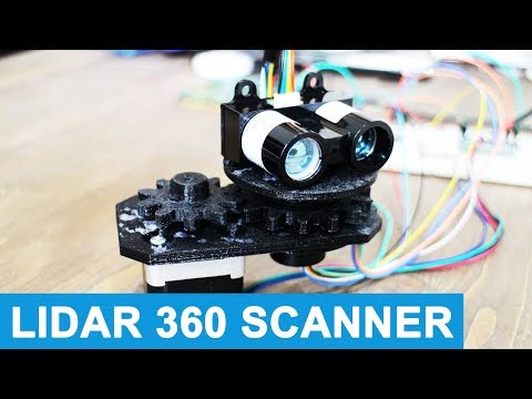 LIDAR Sensor - 3D Printed Rotating Platform - Robotic Vehicle #8