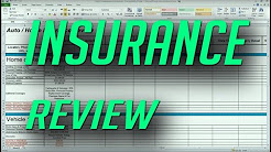Auto and Home Insurance Comparison Review Spreadsheet