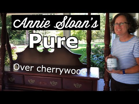 I painted my Cherrywood bedroom set in Annie Sloan's Pure Chalk Paint