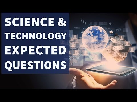 Science & Technology - Expected Questions - UPSC/IAS