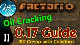 Factorio Guide 0.17 Ep 11: OIL CRACKING / WAY OF THE TENTACLE -  MP w/ Caledorn!