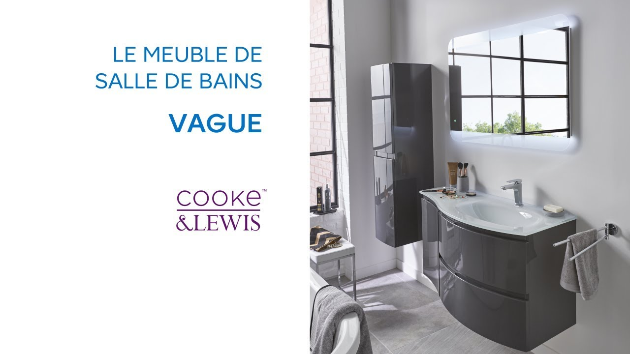 meuble de salle de bains vague cooke lewis castorama youtube. Black Bedroom Furniture Sets. Home Design Ideas