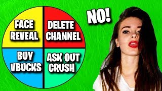 Asking Out My Fortnite Crush.. (Spin The Wheel)