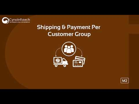 SHIPPING & PAYMENT PER CUSTOMER GROUP MAGENTO 2 EXTENSION | CYNOINFOTECH