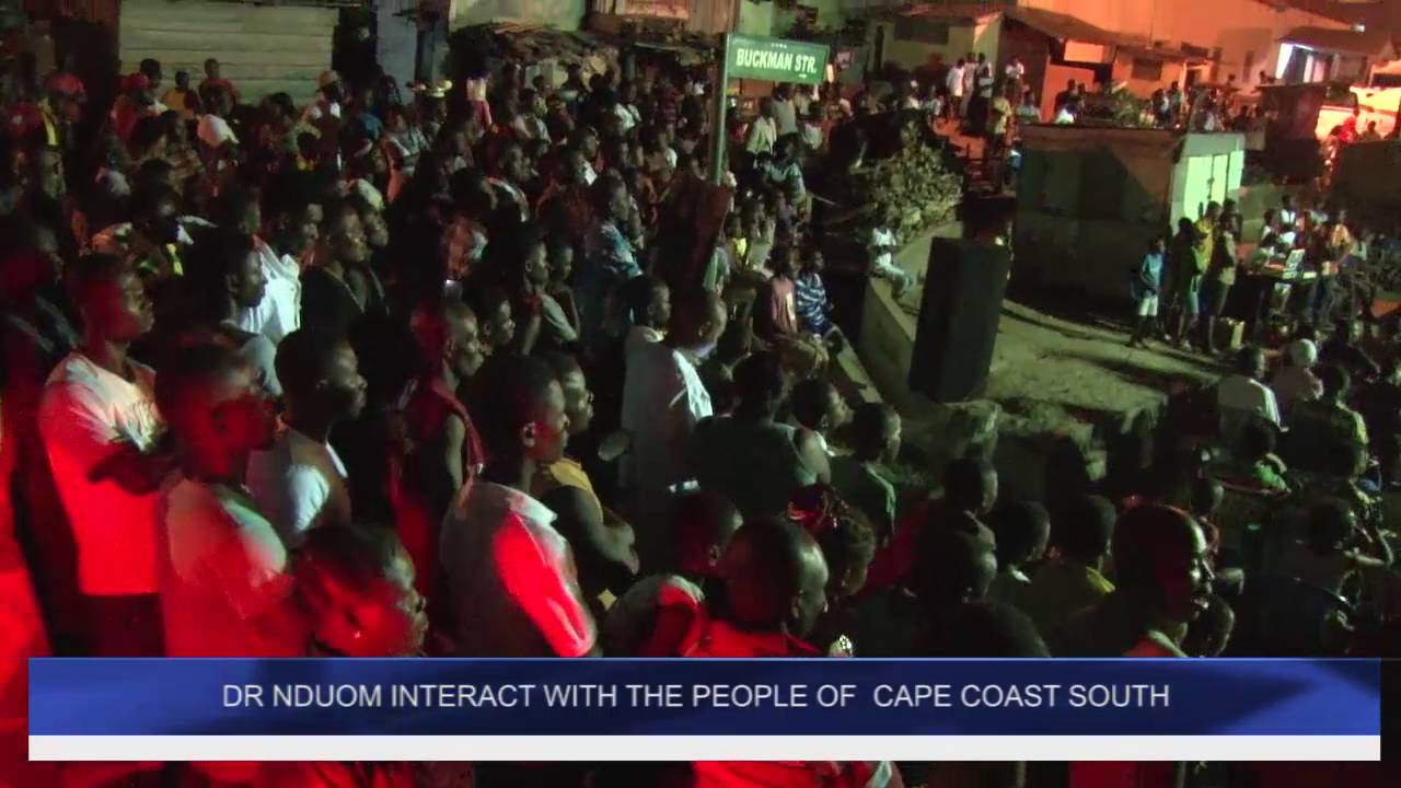DR NDUOM INTERACT WITH THE PEOPLE OF CAPE COAST