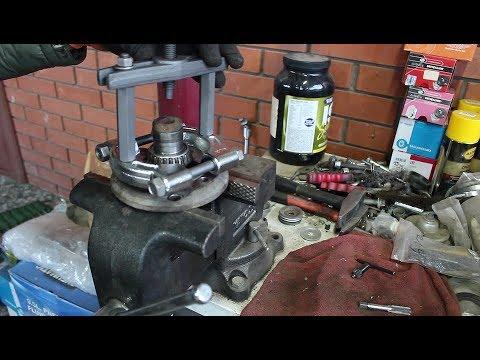 Замена шпилек и подшипника передней ступицы на Daewoo Matiz Дэу Матиз 0,8 2011 года  2часть