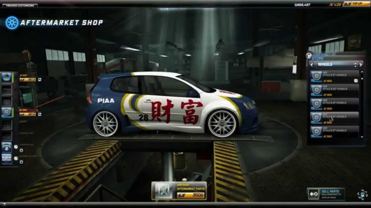 NFS World - My Garage (All cars) - YouTube