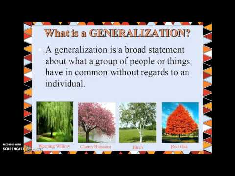 Inferences, Conclusions, & Generalizations