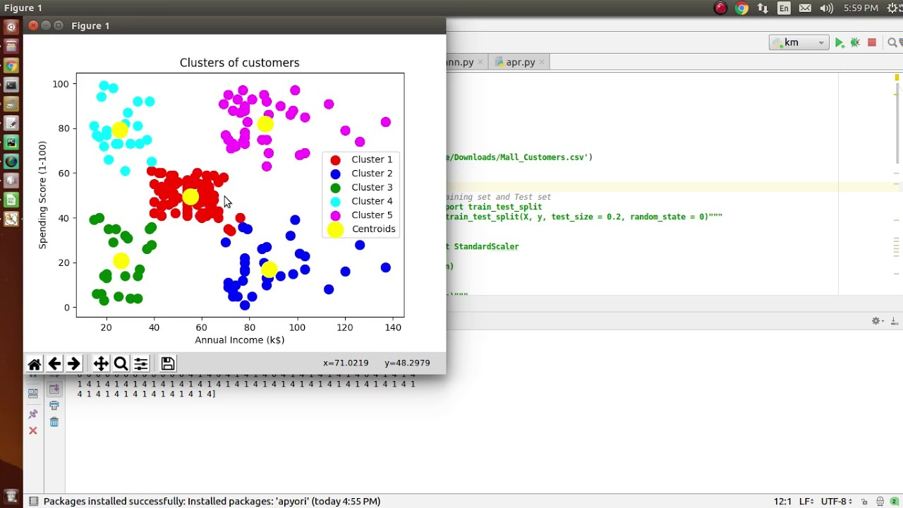 Tutorial for Implement of K-means clustering algorithm python |  +91-8146105825 for query