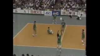 黒鷲旗 第37回(1988年)全日本バレーボール男子 法政大学vs 富士フィルム
