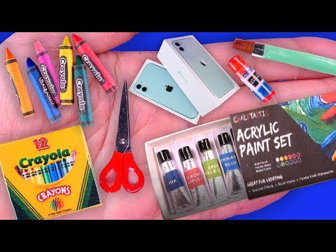 23 Easy DIY Miniature School Supplies Barbie Ideas~Mini Paint and More