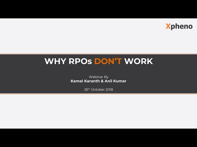 Why RPOs don't work?