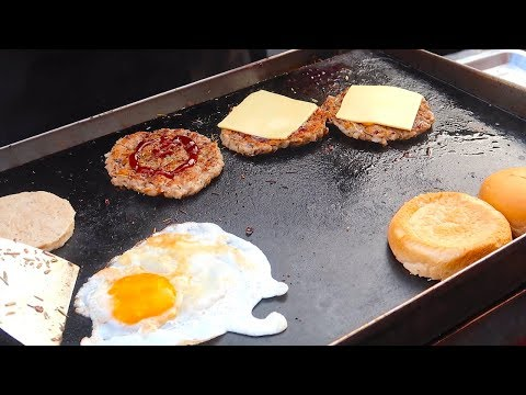 Egg Cheese Burger - Street Food In Thailand