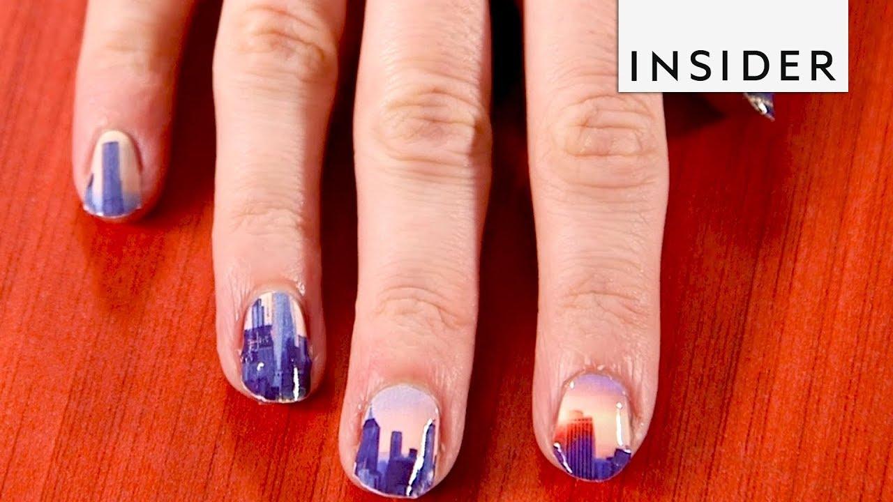 Custom Printed Nail Wraps - YouTube