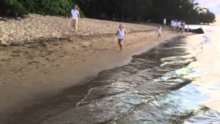 2015 Morgan Hansen Running on Anini Beach in Kauai, Hawaii