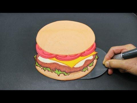 Hamburger Pancake - Most Oddly Satisfying Burger