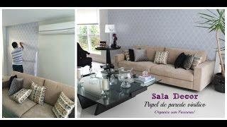 Salas Tour- Sala de Entrada: papel de parede vinílico + dicas de decoração Thumbnail
