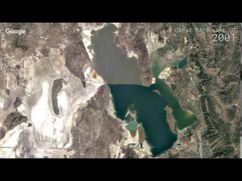 Google Timelapse: Great Salt Lake, UT