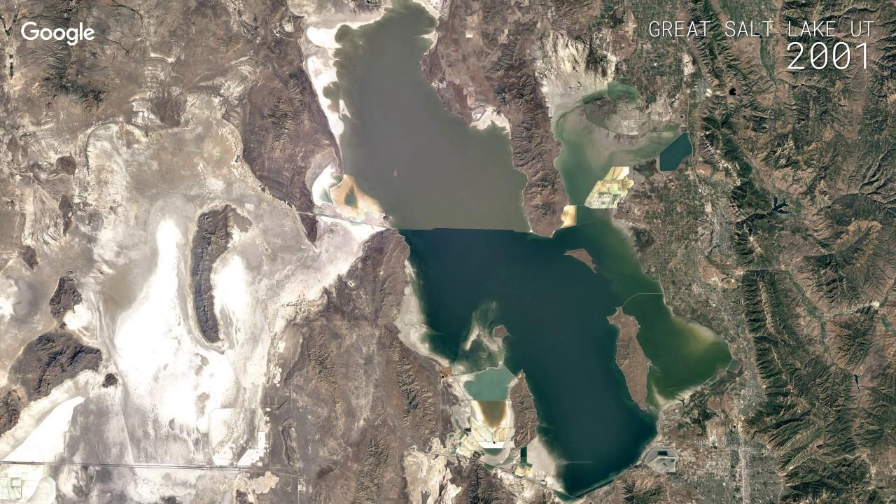 Google timelapse great salt lake ut youtube google timelapse great salt lake ut google earth publicscrutiny Images