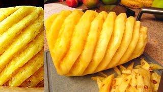 Peeling Pineapple - Fruit Decoration IDEAS