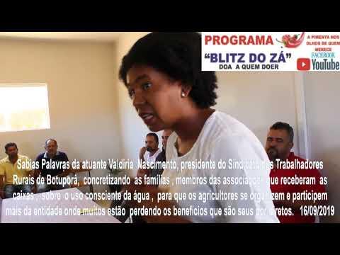 Valdiria, participa  da entrega de caixas d´agua à agricultores de Botuporã!