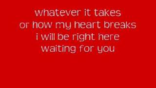 White Dawg-Right Here Waiting Lyrics