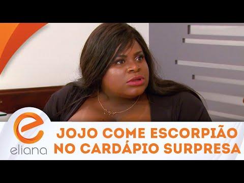 Jojo come escorpião no Cardápio Surpresa | Programa Eliana (22/04/18)