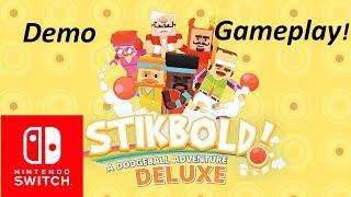 Stikbold! A Dodgeball Adventure Demo Gameplay (Nintendo Switch)