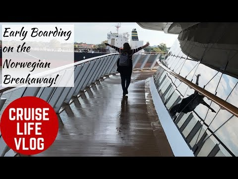 Boarding the Norwegian Breakaway - Surprise Early Boarding & Mini-Ship Tour