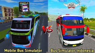 Mobile Bus Simulator vs Bus Simulator Indonesia | Bus Games Comparison screenshot 3