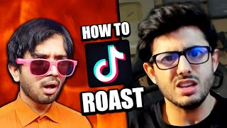 HOW TO ROAST lİke Carryminati - YouTube vs TikTok