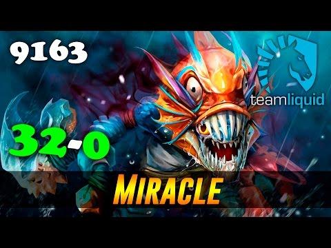 Miracle Slark 32-0 | 9163 MMR Dota 2