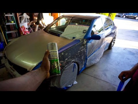 Painting My G35 With SPRAY PAINT!!
