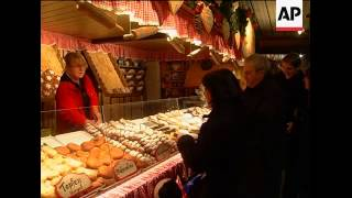 Traditional Christmas Market In Vienna
