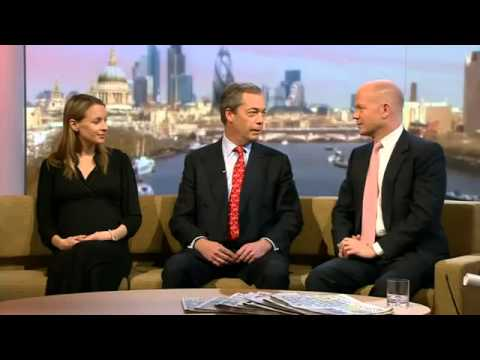 UKIP Nigel Farage vs Conservative William Hague on Europe (20Jan13) - BBC