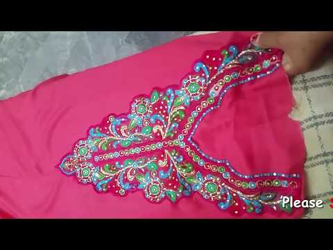 How to Attach ReadyMade Neckline(Gala) on Kurti/Kameez | Attach Gala(Patch/Motive) With Helpful Tips