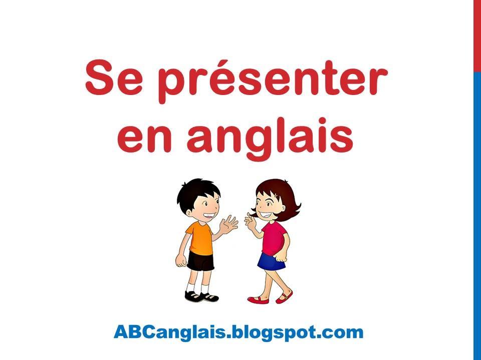 se presenter en anglais cv