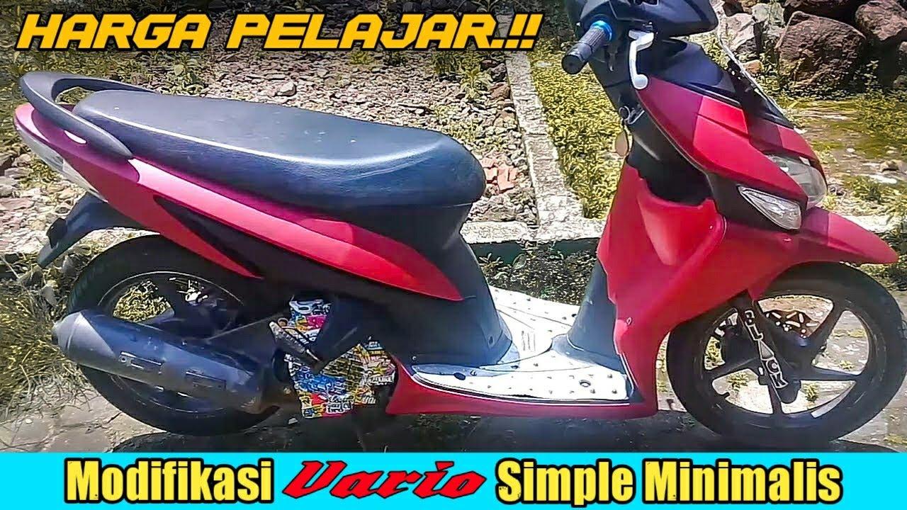 Modifikasi Motor Vario 110 Warna Merah Untouchable My Journey