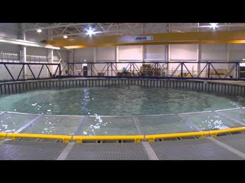 The University of Edinburgh's Flowave pool creating some really interesting waves