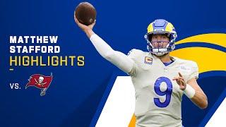 Matt Stafford's Best Passes From 4-TD Game | NFL 2021 Highlights