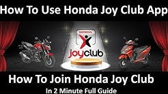 How To Use Honda Joy Club App | Benefit | Offer | Full Guide 🏍️ 🏍️