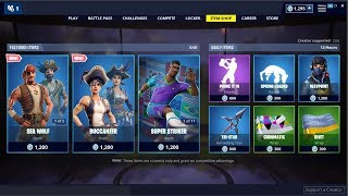 *NEW*Sea Wolf & Buccanee Skins! Fortnite Item Shop April 10, 2019