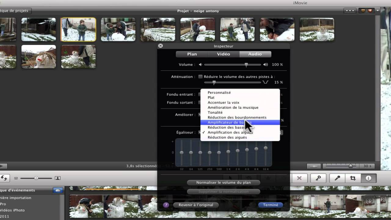 effets sonores imovie