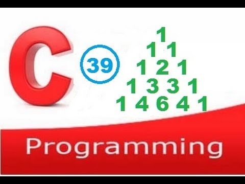 c programming video tutorial -  print pascal