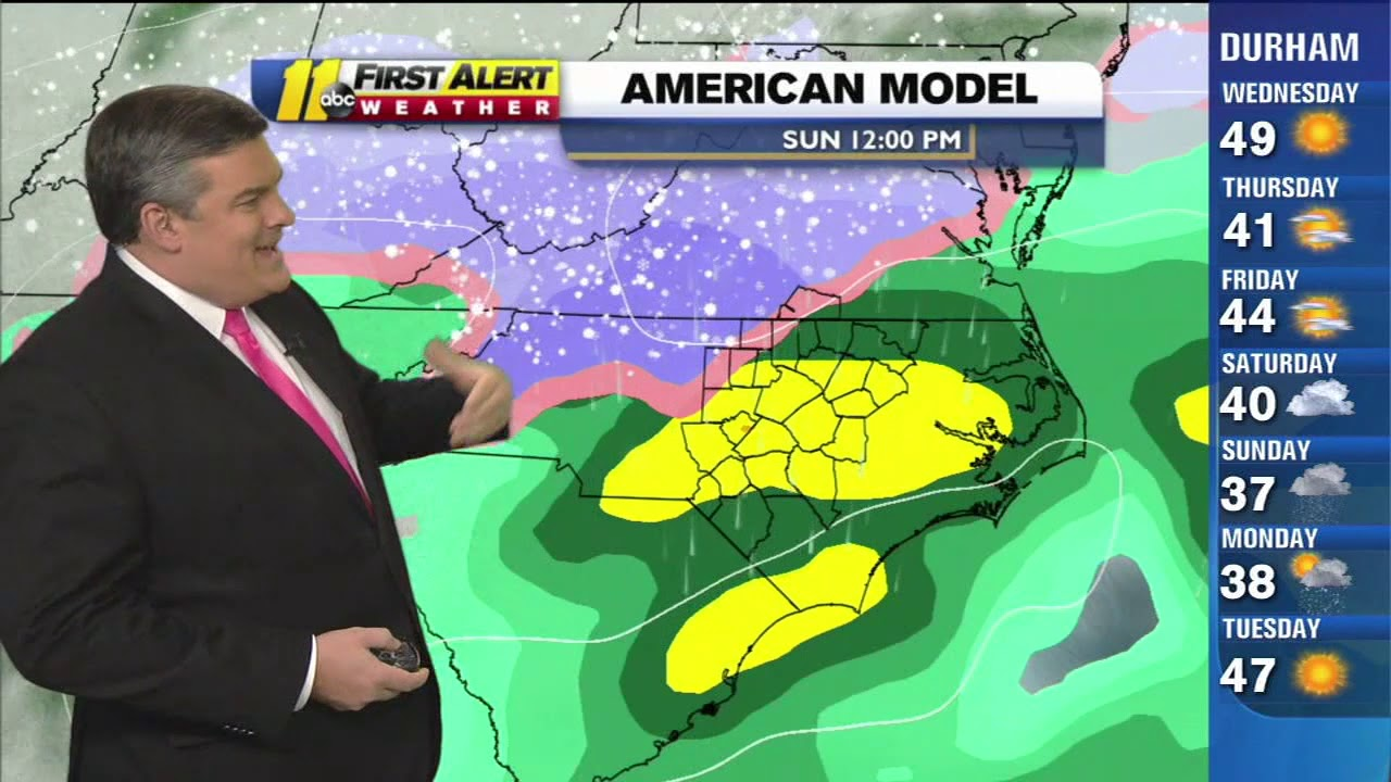 NC snow: Latest weather models say wintry mix, rain more likely than snow  this weekend in Raleigh