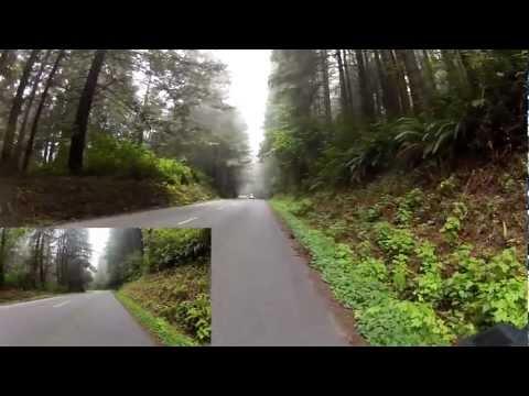 Cycling Redwood Creek, Bald Hills Road