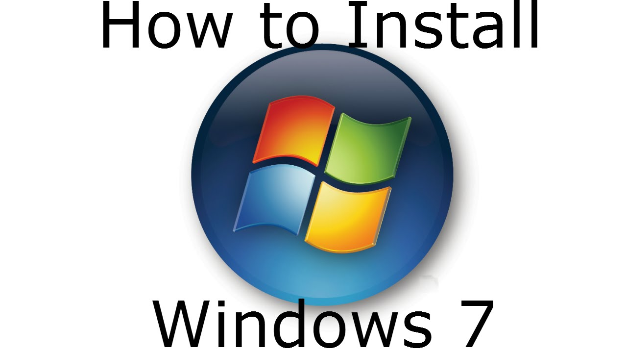 how to install windows 7 clean